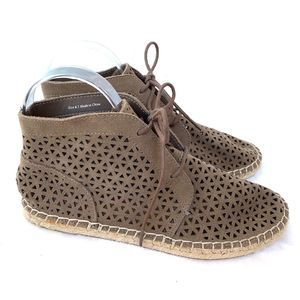 Dolce Vita Perforated Brown Espadrille Sneakers